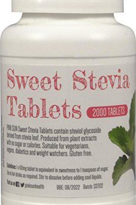 PINK-SUN-Stevia-Comprims-2000-Onglets-Substitut-Alternatif-de-Sucre-ddulcorant-Recharge-pour-distributeur-de-500-comprims-Stevia-Tablets-Tabs-0